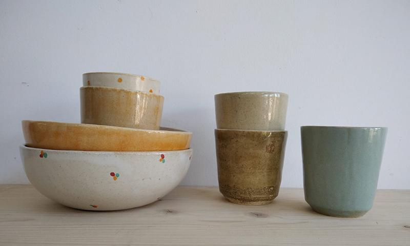 Pott Keramikako eskuz eginiko baxera